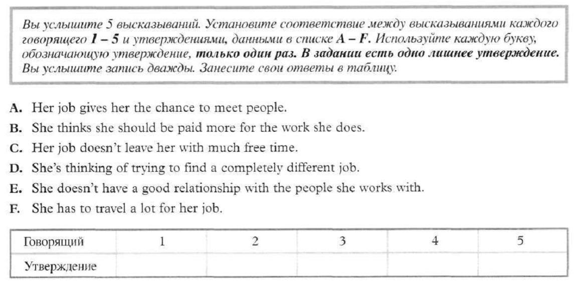 Аудирование английский тема работа