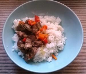 Рис с сердцем. Один из моих завтраков