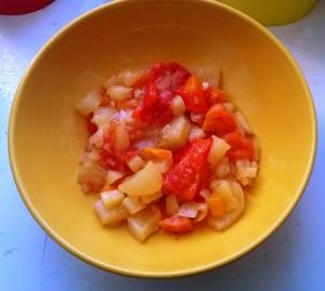 Овощное рагу. Очень легкое блюдо. Его готова съесть много! Но только без картошки, не люблю её в таком виде