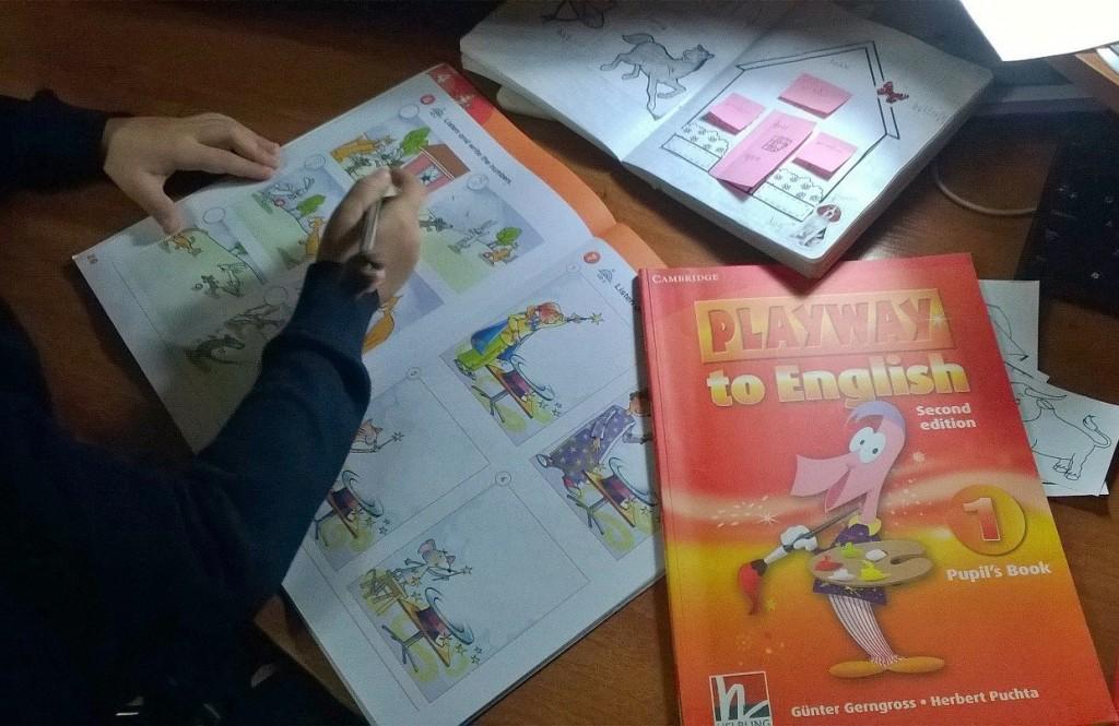 Фрагмент урока по Playway to English 1