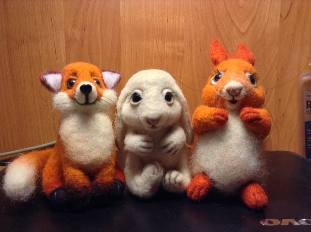 Игрушки из войлока (фото их архива Маргариты)