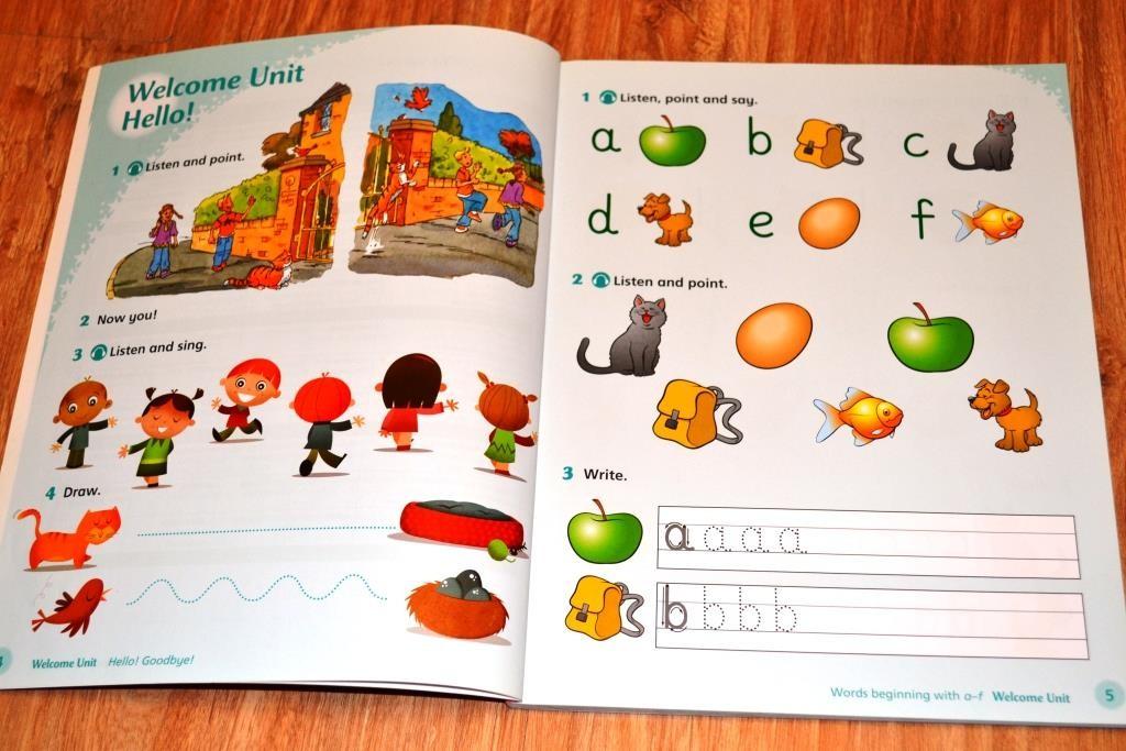 Страница вводного урока и начало изучения алфавита