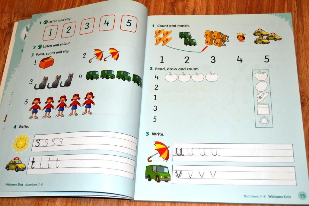 Страница из вводного урока-повторение алфавита и счёта