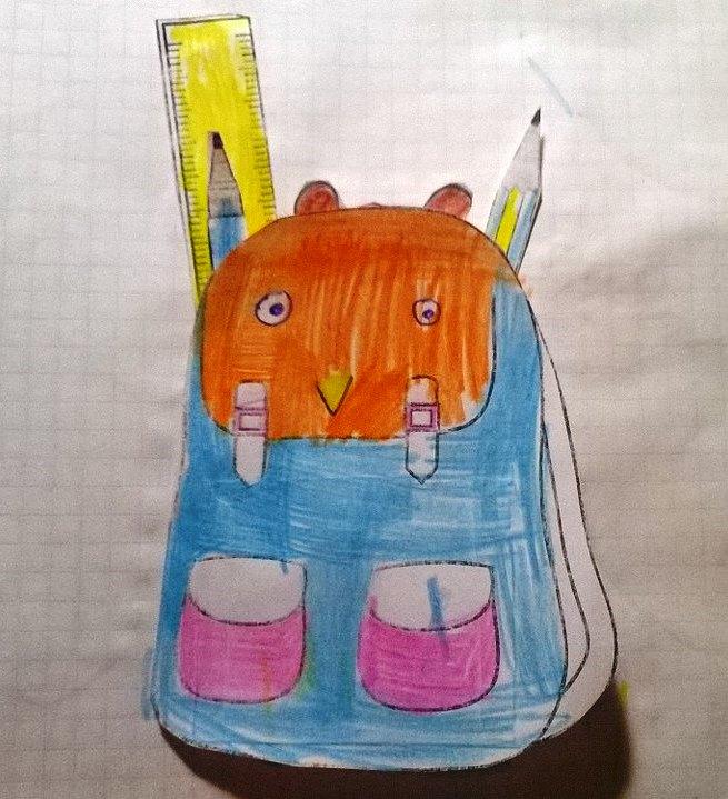 """Интерактивный рюкзак из темы """"Школа и школьные принадлежности"""""""