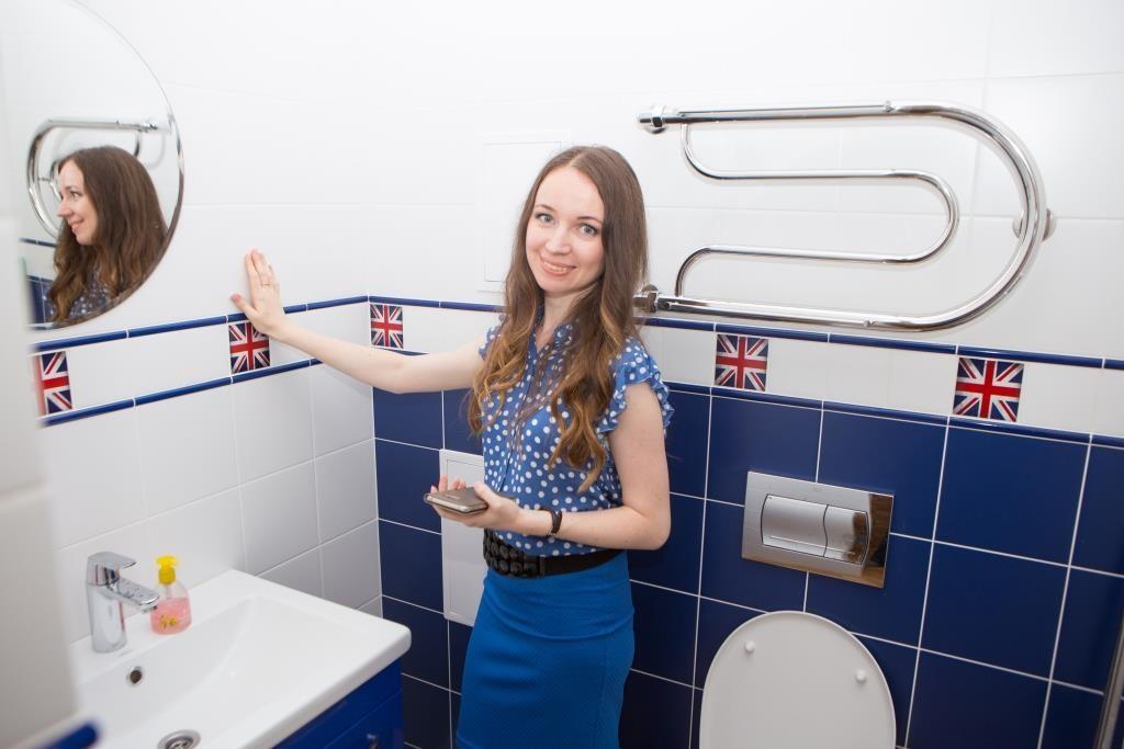 Туалетная комната в британском стиле